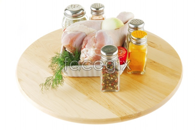 Delicious gourmet food seasoning for meat pictures