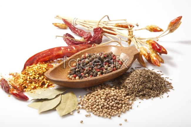 Fresh food ingredients dried HD picture material