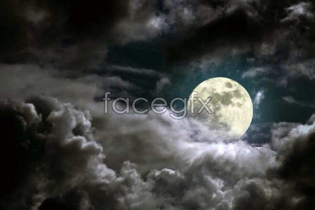 Pictures of the Moon in the sky