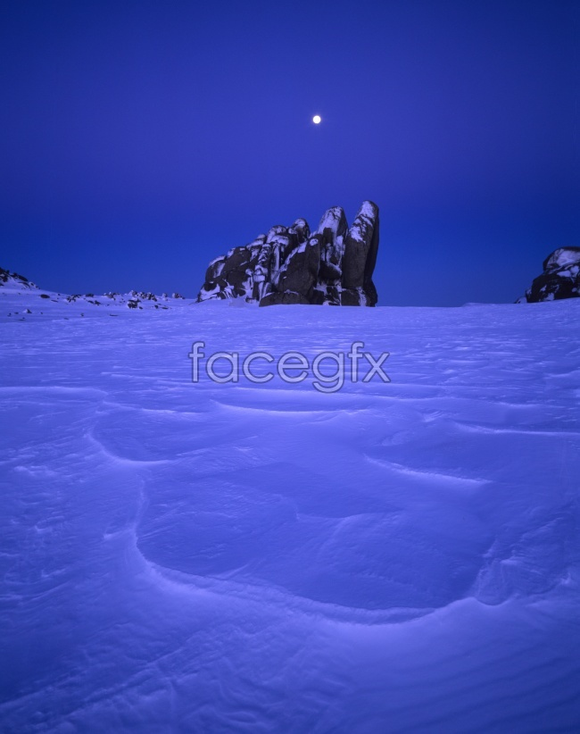 Snow ice winter night HD pictures