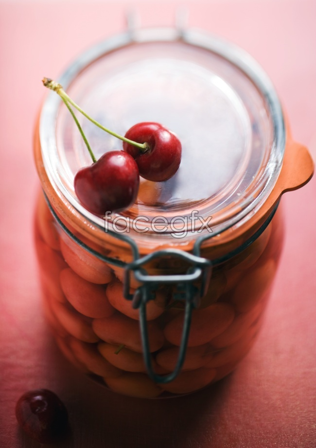 Dry glass jars cherry HD pictures