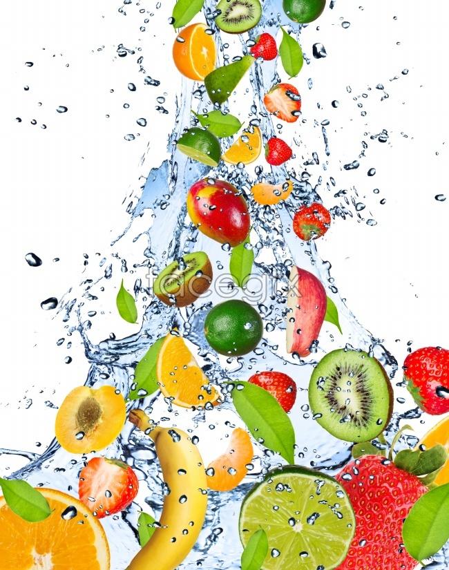 HD fruit splash pictures