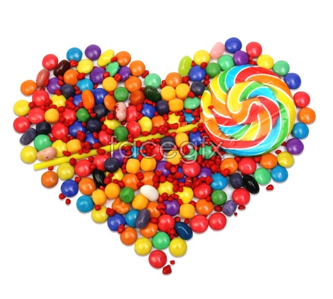 Heart-shaped sugar candy wave pictures