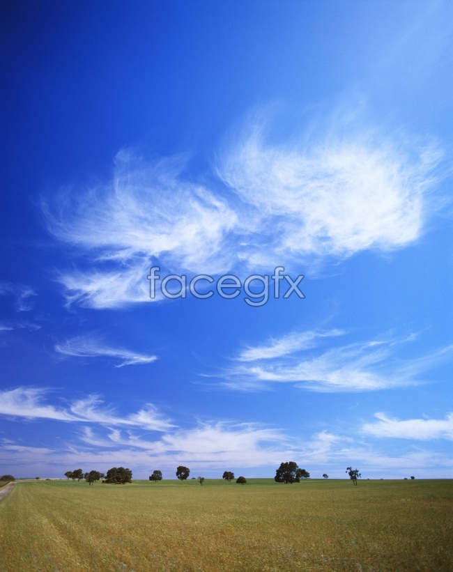 Beautiful blue sky Prairie pictures