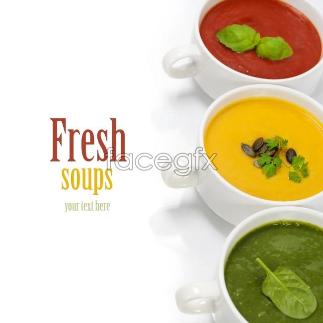 Gourmet soups nutrition pictures