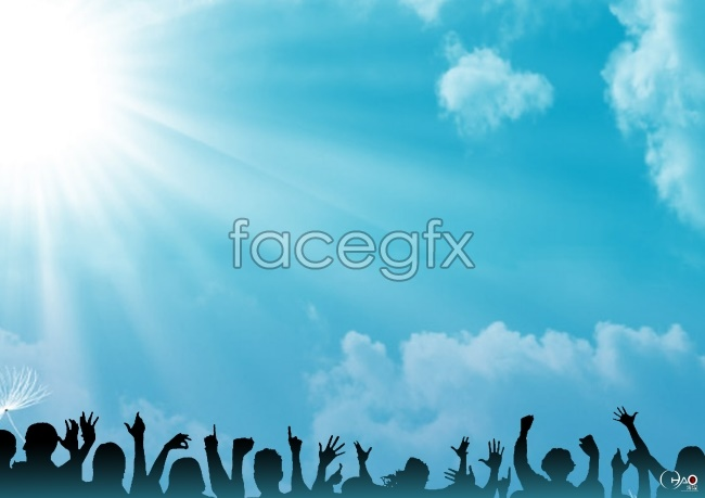 Light blue ppt background pictures