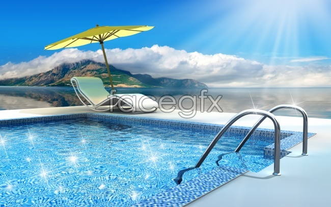 Leisure pool high definition pictures