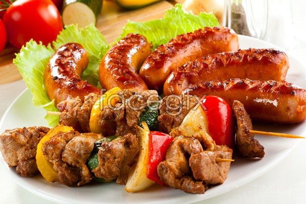 HD BBQ sausage picture