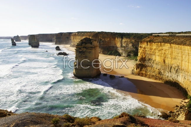 Seaside surf beach scenery picture