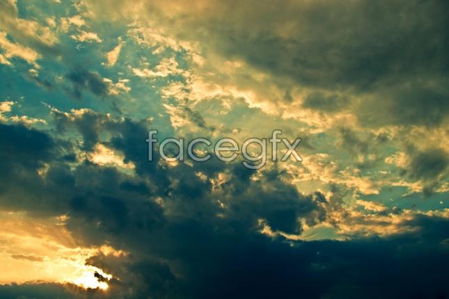 Sunset sky landscape picture