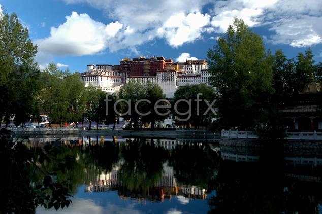 Lhasa views material picture
