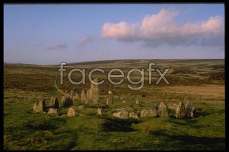 Rock group landscape picture