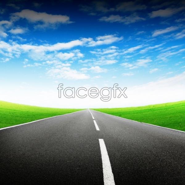 HD road grassland pictures