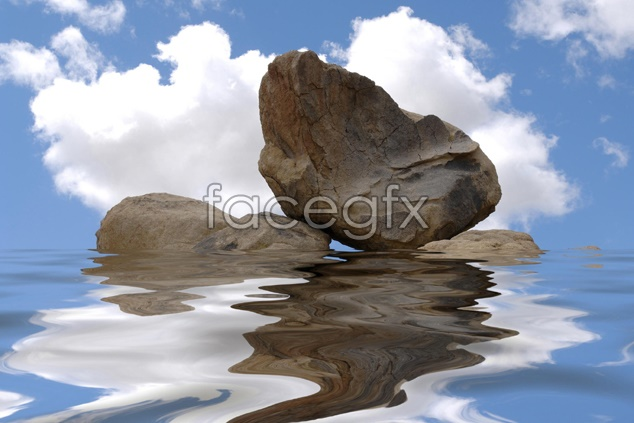 Beach blue sky scenery picture