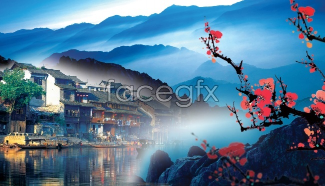Meihua mountains water picture