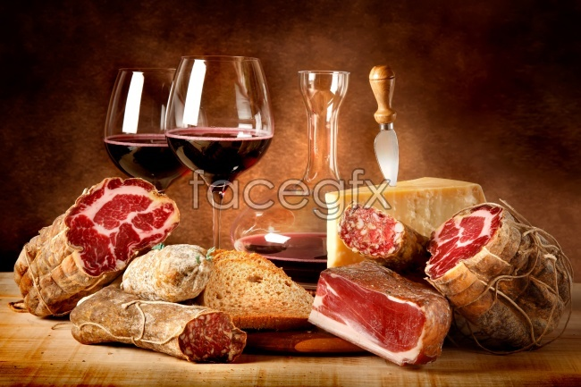 Red wine Bacon high definition pictures
