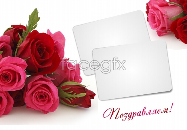 Valentine roses cards picture