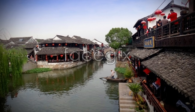 Ancient water town xitang picture