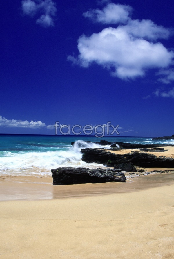Blue Sky Beach material picture