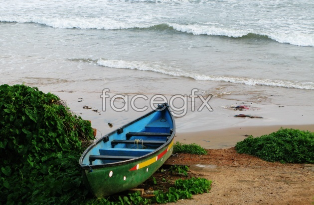 Beach scenery picture material