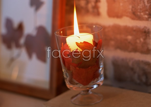 Interior glass candles pictures