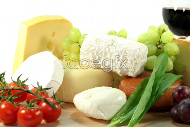 Selection of Western food picture