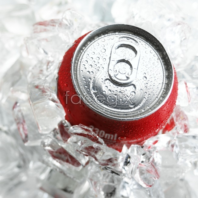 Cans of ice and beverage pictures