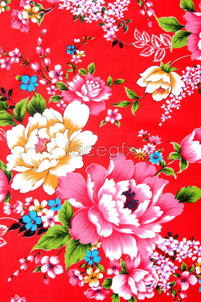 Vintage flower pattern picture