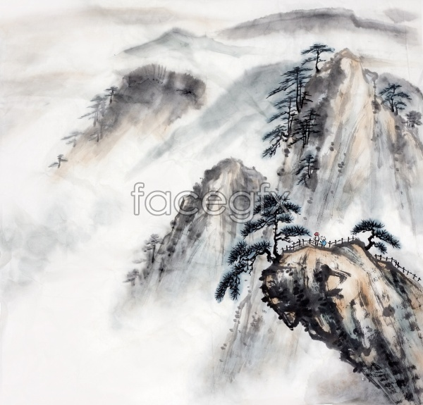 HD ink landscape pictures