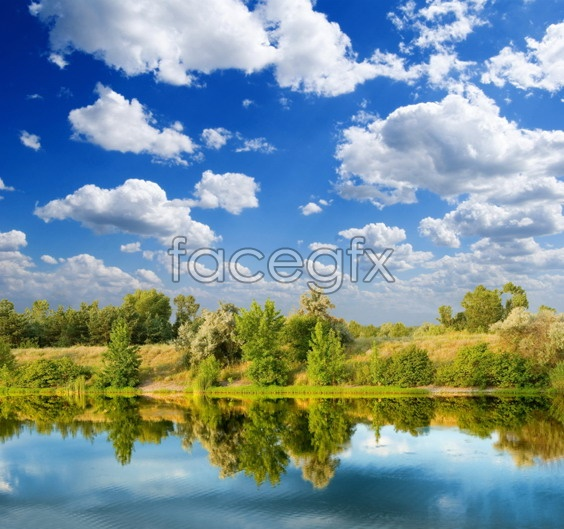 River sky scenery picture