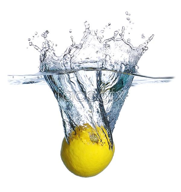 Lemon in water pictures