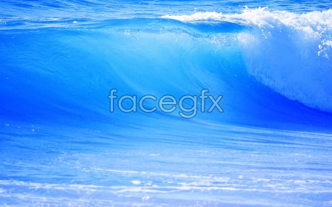 Blue waves picture material