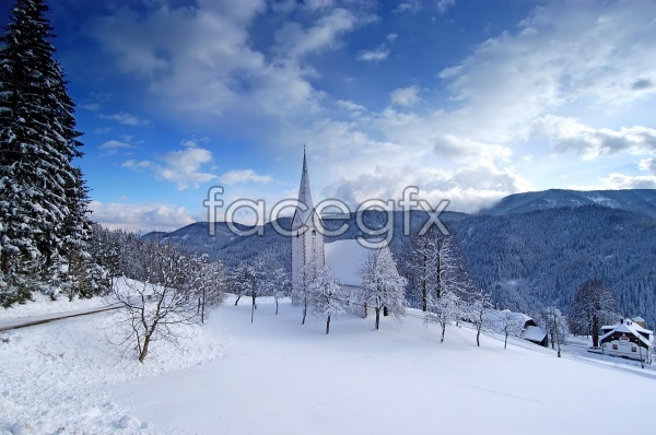 Snow HD picture material