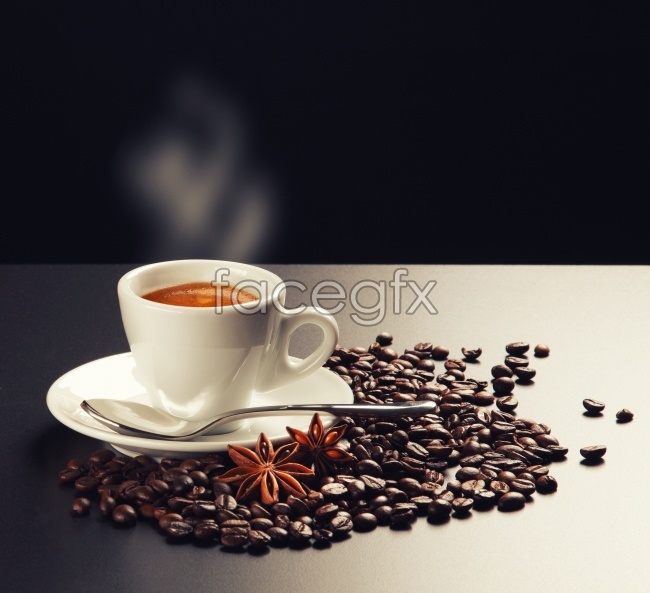 Hot gourmet coffee HD picture material