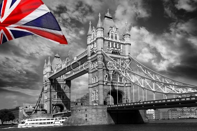Creative black and white photo of London Bridge picture