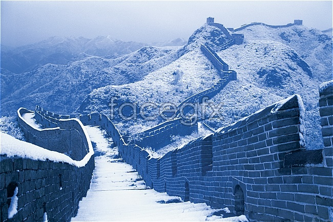 Ice-covered in winter of the great wall pictures