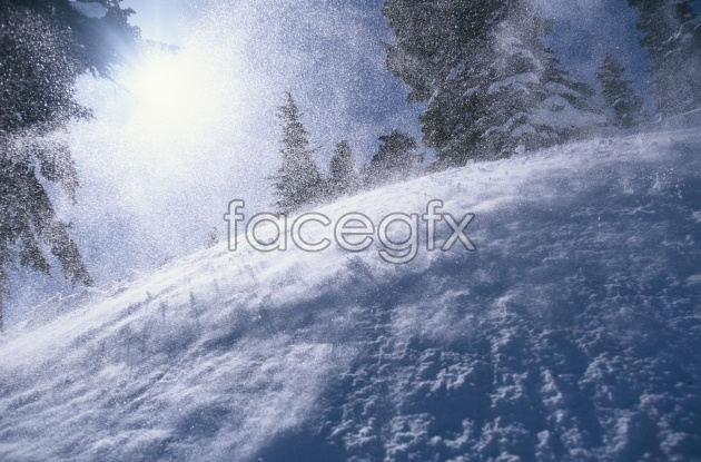 Winter river landscape picture