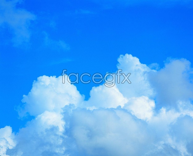 Blue sky and white clouds sky picture