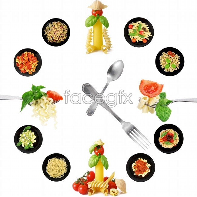 Knives and forks gourmet pasta HD pictures