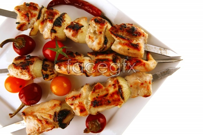 Tender BBQ skewers picture material