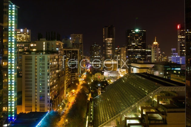 HD city night view picture
