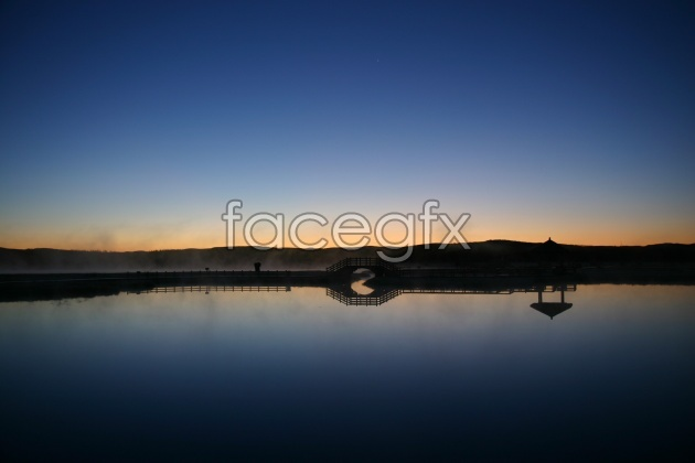 HD evening landscape picture