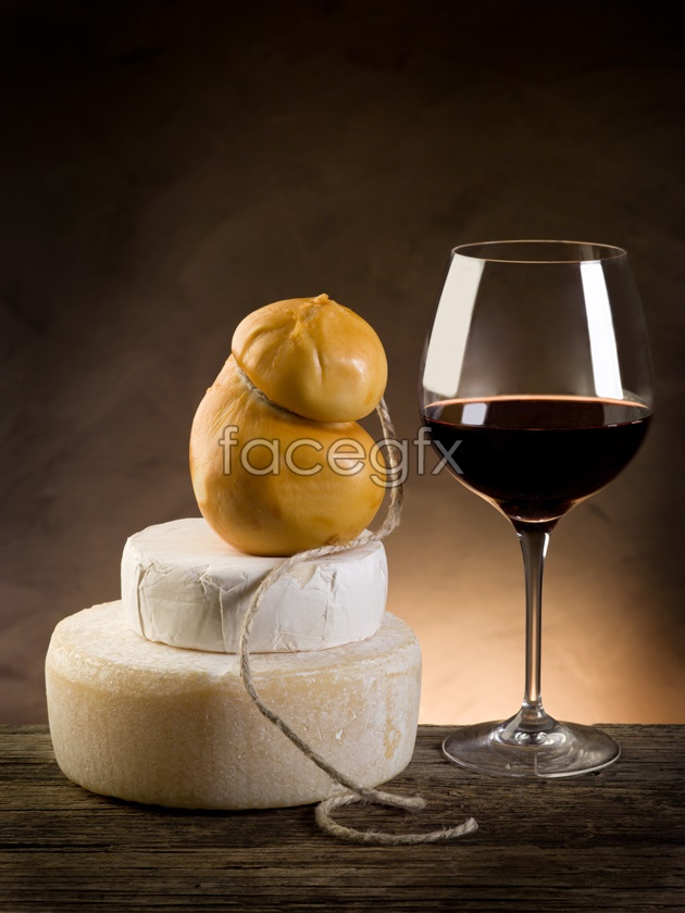 HD red wine bread pictures