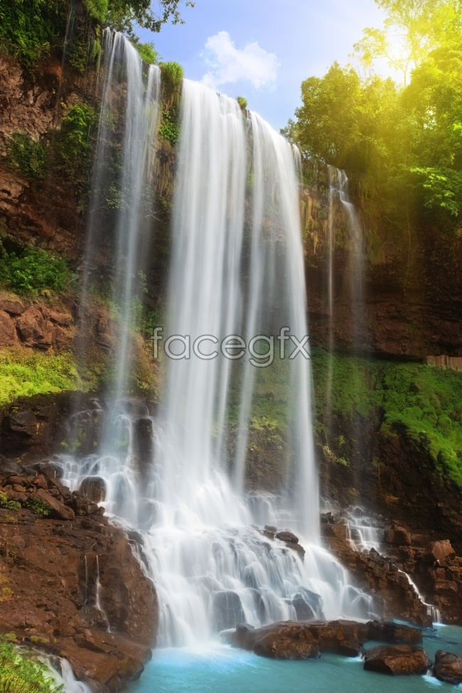 Beautiful waterfall landscape high resolution images