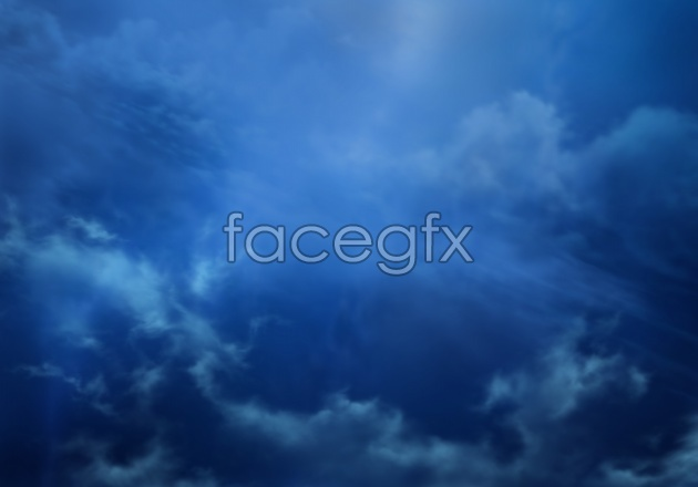 HD deep blue sky pictures