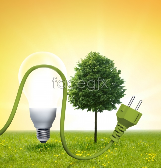 Incandescent lamps green wire head pictures