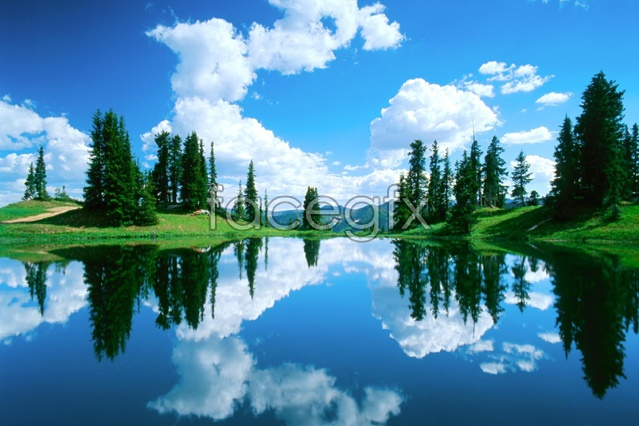 Lake scenery picture