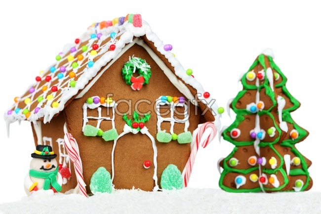 Candy house picture material
