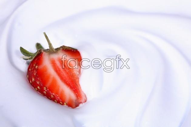 HD milk Strawberry picture
