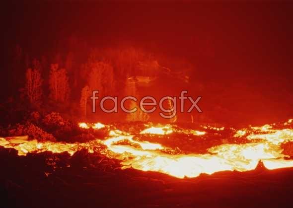 Lava landscape picture